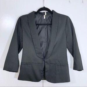 Anthro 3/4 crop blazer